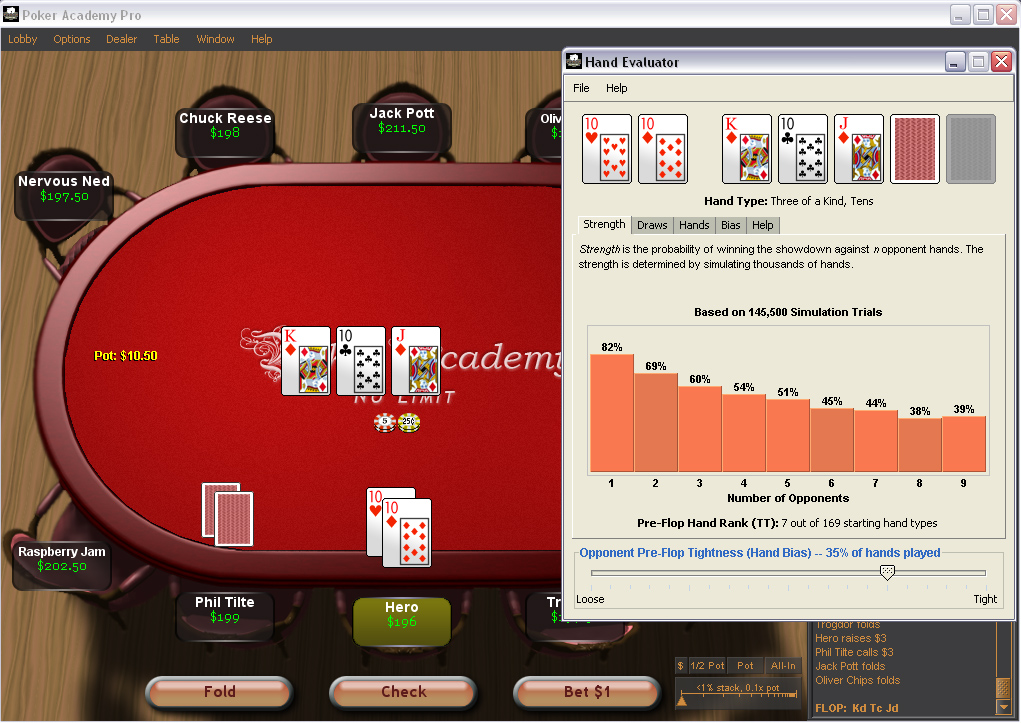 онлайн расчет покер