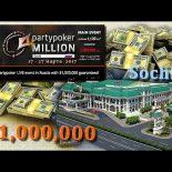 Partypoker Million Sochi, турнир в Сочи с призовым фондом 1 млн долларов