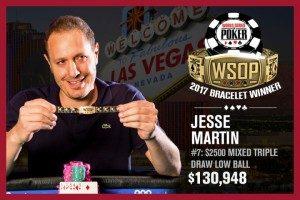 Джесси Мартин выиграл второй браслет WSOOP в карьере